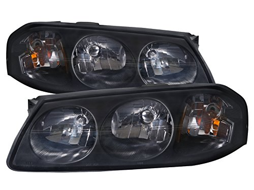 PERDE Chevy Impala Lite Smoke Headlights Headlamps Pair New Set