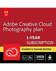 Adobe Creative Cloud Photography plan 20GB: Photoshop + Lightroom   Student and Teacher   1 Year   PC/Mac   Download