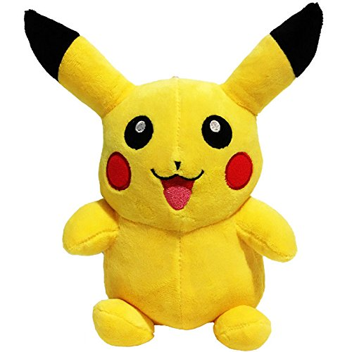 Stuffed Pikachu - Plush Animal Pokemon That's Suitable For Babies and Children - Perfect Birthday Gifts - Toy Doll for Baby, Kids and Toddlers - 6