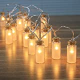 NEW - 8 Modes Vintag Glass Jar LED Fairy Lights With 20 Warm White LEDs-- Battery Operated (Waterproof IP44)