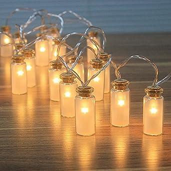 Weihnachtsbeleuchtung Lichterketten Led.Neu 8 Modi Vintage Glas 20er Led Lichterketten Led Outdoor Lichterkette Weihnachtsbeleuchtung Warmweißen Wasserdicht Batteriefach