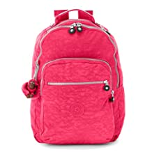 Kipling Seoul Large Backpack with Laptop Protection, Vibrant Pink, One Size