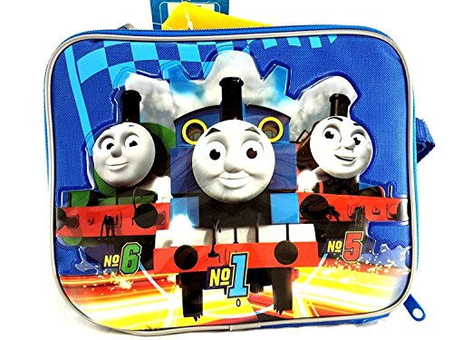Team Thomas the Train Engine Canvas Blue Insulated Lunch Bag ()