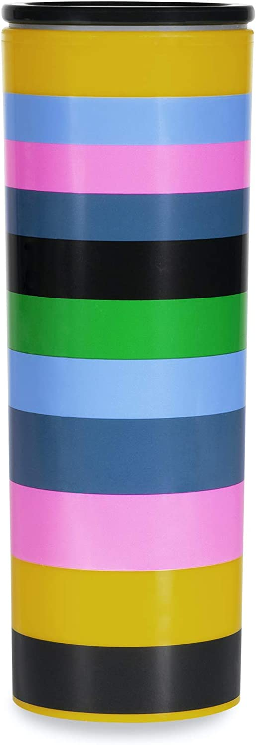 Kate Spade New York 16 Ounce Insulated Travel Mug, Double Wall Thermal Tumbler for Coffee/Tea, Enchanted Stripe