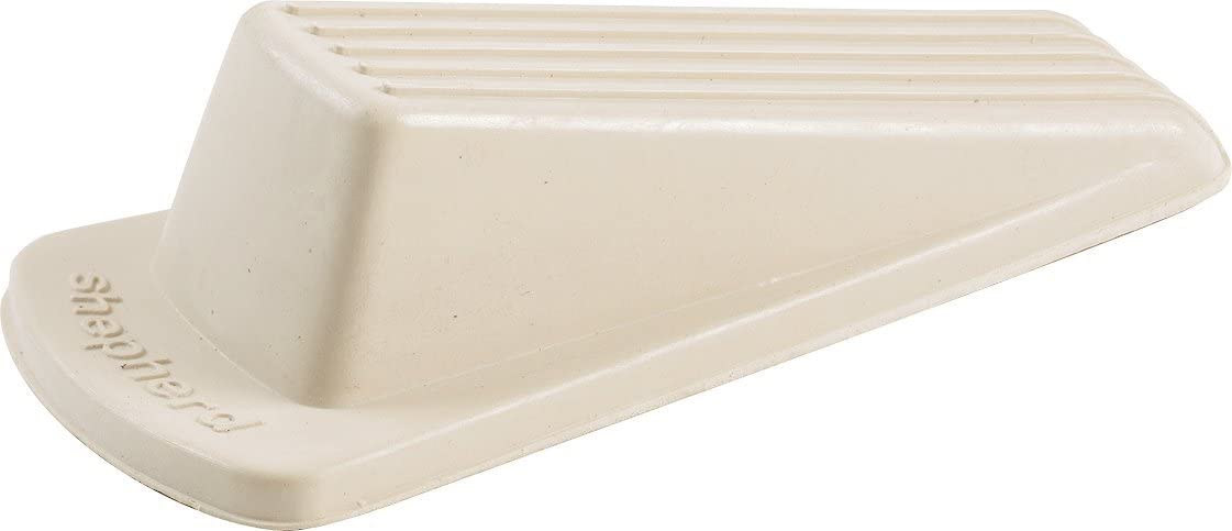 4 Pack Shepherd Hardware 9163 Heavy Duty Rubber Door Wedge Off-White