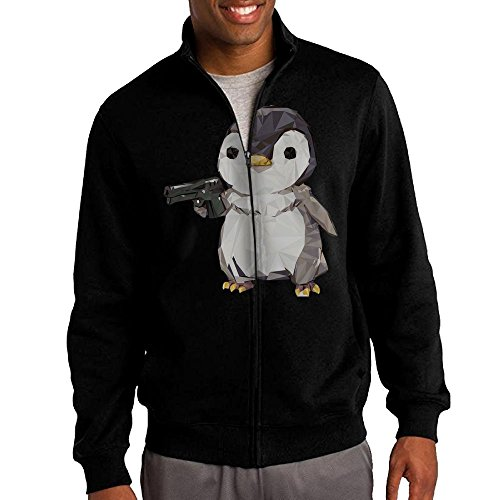 [Men's Cubic Penguin Power Solid Stand Collar Zipper Jacket Size XL] (Wall-e Costume Make Your Own)
