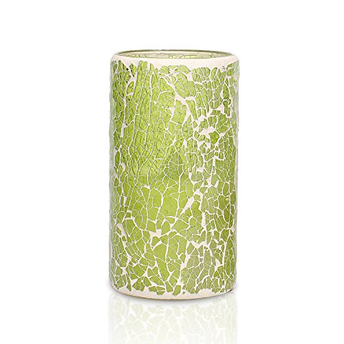 Mosaic Flameless LED Candle with Timer, Battery-Powered 3 x