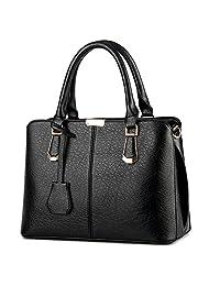 Tibes Luxury PU Leather Women Handbag Fashion Shoulder Bag Top-Handle Bag Tote