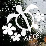 nc-smile ハワイアン ステッカー ホヌ HONU★プルメリア★ALOHA (ホワイト)