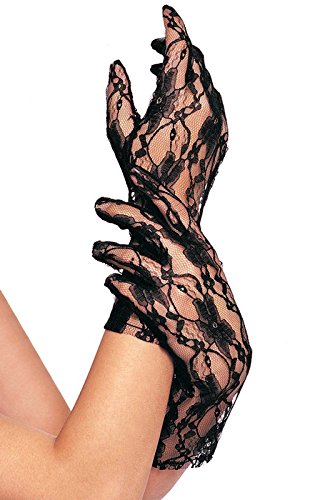 (Wrist length stretch lace gloves O/S BLACK)