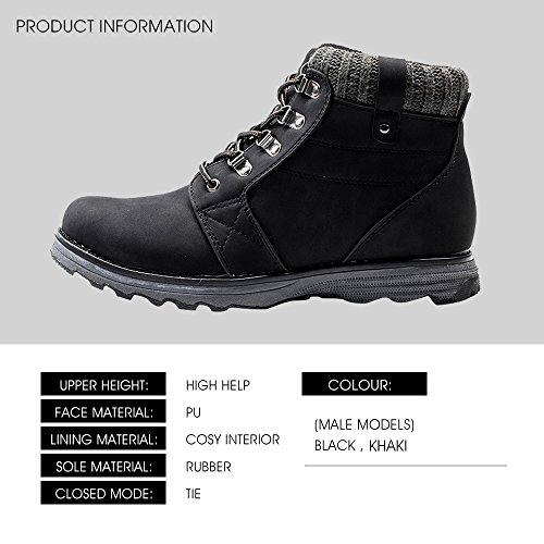 Hiking Boots for Men Casual Shoes Comfort and Durability Flat Ankle Martin Boots