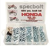 120pc Specbolt Honda XR XL four stroke Bolt Kit Maintenance & Restoration of Dirtbike OEM Fasteners XR50 XR80 XR100 XR185 XR200 XR250 XR400 XR500 XR600 XR650 and XR XL models 50 80 100 185 200 250 400 500 600 650
