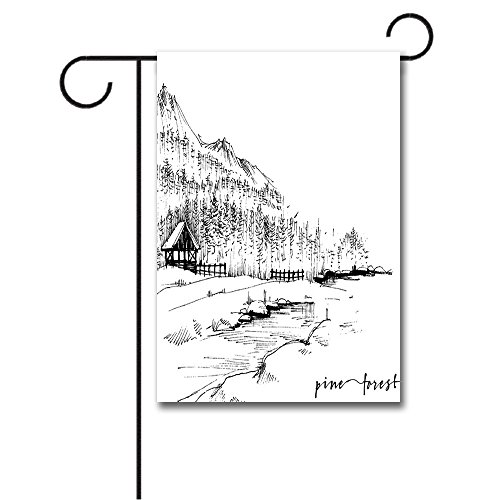 Urban Garden Center - Wondertify Garden Flags Sketchy Panoramic Sketch of Dubai from Sea Skyline Wealth Symbol City Urban Centre Double Sided House Decoration Polyester Garden Flag 28 X 40 Inches