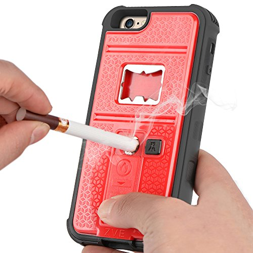 Multifunctional Cigarette Lighter Shockproof Red iPhone product image