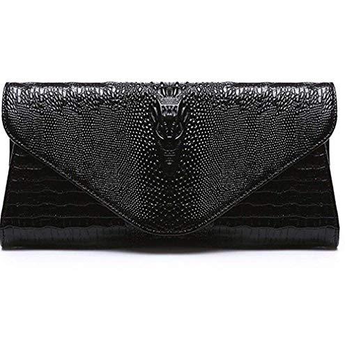 Bags Clutch Dimensione In Gold Coccodrillo Unica Ahimitsu Fashion Borsa Pelle Tracolla Black Uniti Totalizzatore Gli Modello Motivo A E Europa Donne Con Per Stati Taglia colore 8w7wq5Cx