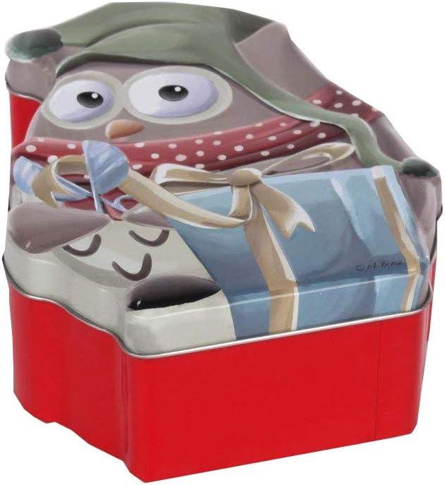 Altom Navidad Lata Lata Wesko – Caja de Navidad Christmas (búho de 18 x 14 x 6,5 cm): Amazon.es: Hogar