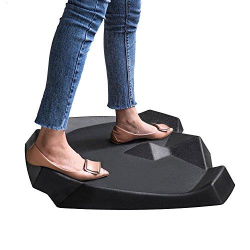 - Ergohead Standing Desk Mat - Not-Flat Anti Fatigue Mat For Stand Up Desks, Ergonomically Engineered, Black