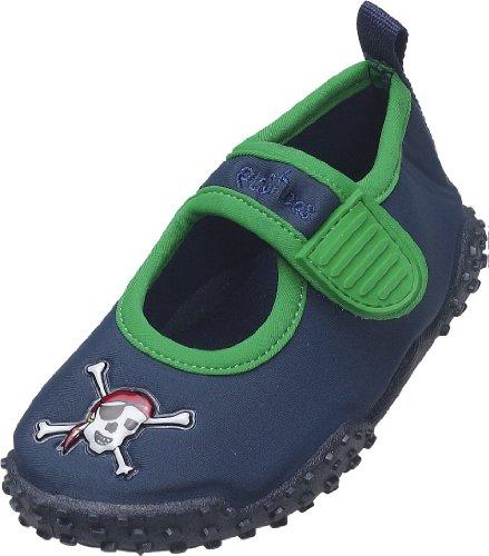 Playshoes Aquaschuhe, Badeschuhe Pirat mit höchstem UV-Schutz nach Standard 801 174785, Jungen Aqua Schuhe, Blau (original 900), EU 22/23