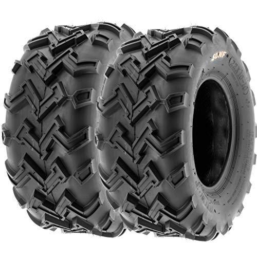 SunF 22x10-10 22x10x10 ATV UTV All Terrain Race Replacement 6 PR Tubeless Tires A001, [Set of 2]