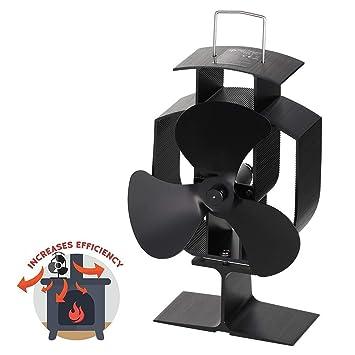 Calor Powered Horno Ventilador para Madera/Leña Burner, 3 Aspas,Funcionamiento silencioso: Amazon.es: Bricolaje y herramientas