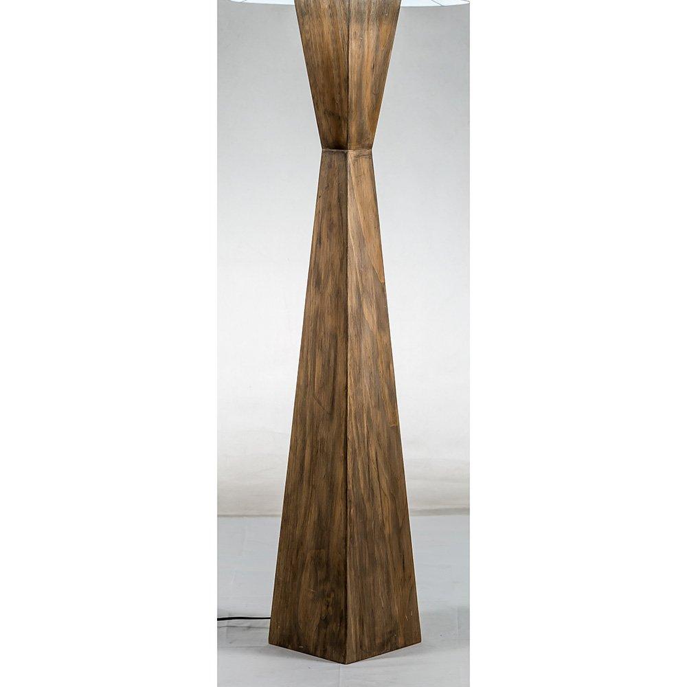Modern home espresso geometric wood floor lamp w natural jute shade amazon com