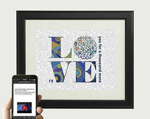 A Thousand Years by Christina Perri Inspired Song Art - Wedding Anniversary Gift For Husband, QR Code First Dance Song Lyric, Valentines Day Gift For Him, 10x8 Print Only