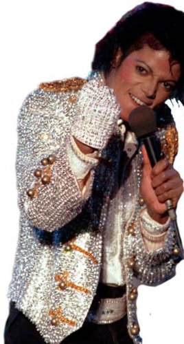 [Michael Jackson Silver Sequin Glove Costume Accessory] (Michael Jackson Hat And Glove)