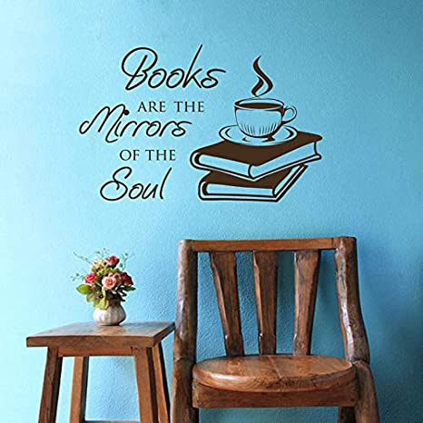 Libro de café cita etiqueta de la pared Mural calcomanías de ...