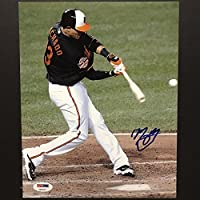 Autographed/Signed Manny Machado Baltimore Orioles 8x10 Baseball Photo PSA/DNA COA Holo Only