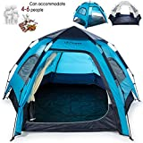 iFreme Lightweigh Portable Camping Tent,4-6 Person Large Tent with Double Layer Instant Setup Tent,Waterproof Camping Tent for 4 Seasons