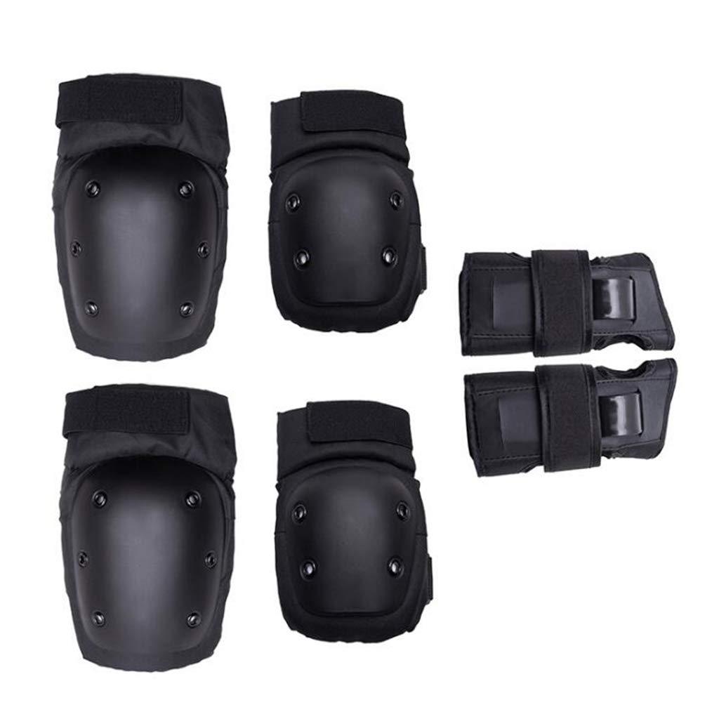Schutzausrüstung Sport, Knie-Ellbogenschützer Und Handgelenkpolster-Set Handgelenkschutz Für Multi-Sport-Outdoor-Aktivitäten (6 Stück)
