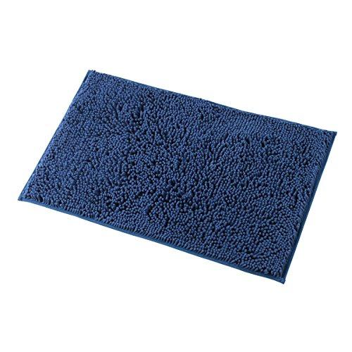 MAYSHINE Bath mats for Bathroom Rugs Soft, Absorbent, Shaggy Microfiber,Machine-Washable, Perfect for Door Mat (20X32 inch Dark Blue)