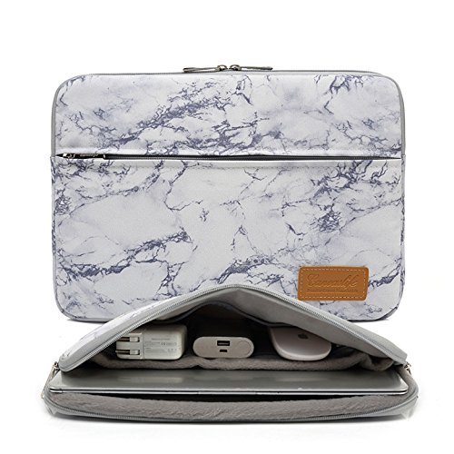 Canvaslife Marble Pattern 360 Degree Protective 13 inch Canvas Laptop Sleeve with Pocket 13 inch 13.3 inch Laptop case 13 case 13 -