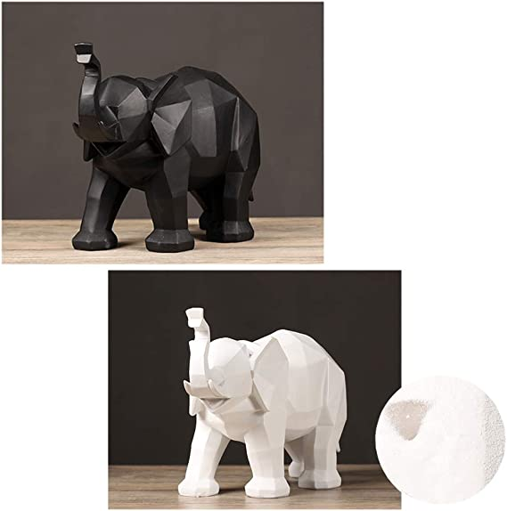 G/éom/étrique Artisanat Origami Statues D/écoratives R/ésine Figurines Abstrait Statue Ornement Accueil Office Accents D/écor Ornements-Rose 12x8inch XM/&LZ /él/éphant Sculpture