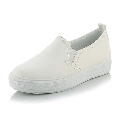 Plataforma De Mujer Pisos Zapatos Blancos Primavera OtoñO ResbalóN En Goma Suela Oxfords Confort Mocasines para Mujer: Amazon.es: Zapatos y complementos
