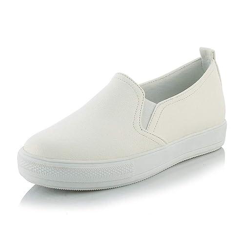 4f4b9502 Plataforma De Mujer Pisos Zapatos Blancos Primavera OtoñO ResbalóN En Goma  Suela Oxfords Confort Mocasines para