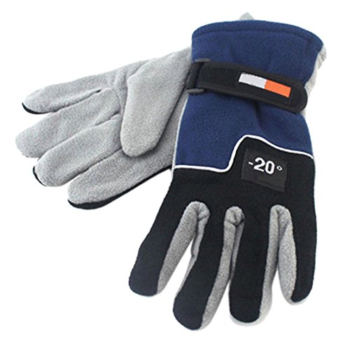 1-Pc (1 Pair) Exceptional Chic Hots Men Thermal Warm Glove Ski Decoration Motorcycle Outdoor Sports Wrist Driving Colors Blue