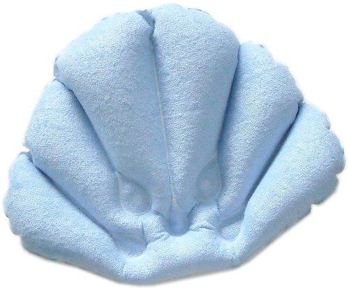 Flower gonflable en forme de baignoire oreiller avec ventouses, couleurs peuvent varier