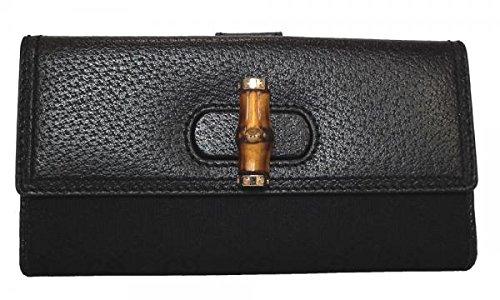グッチ レザー オーストリッチバンブー財布(ファスナー式小銭入れ付き) 137374