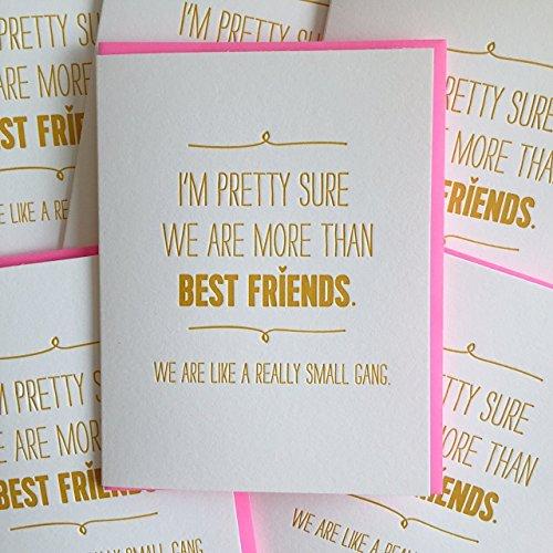 Birthday Card For Best Friend - Small Gang - Letterpress Printed Birthday Card