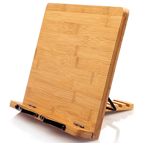 Bamboo Cookbook Stand Reading