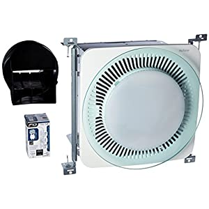 Broan-Nutone  QTNLEDA  LunAura Fan, Light, and LED Nightlight Combo for Bathroom and Home, Round Design with Tinted Light Panel, ENERGY STAR Qualified, 0.7