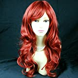 Wiwigs ® Stunning Long Wavy Light Copper Red mix Skin Top Cosplay Ladies Wig