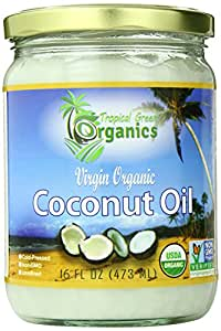 Tropical Green Organics Virgin Coconut Oil, 16 Ounce