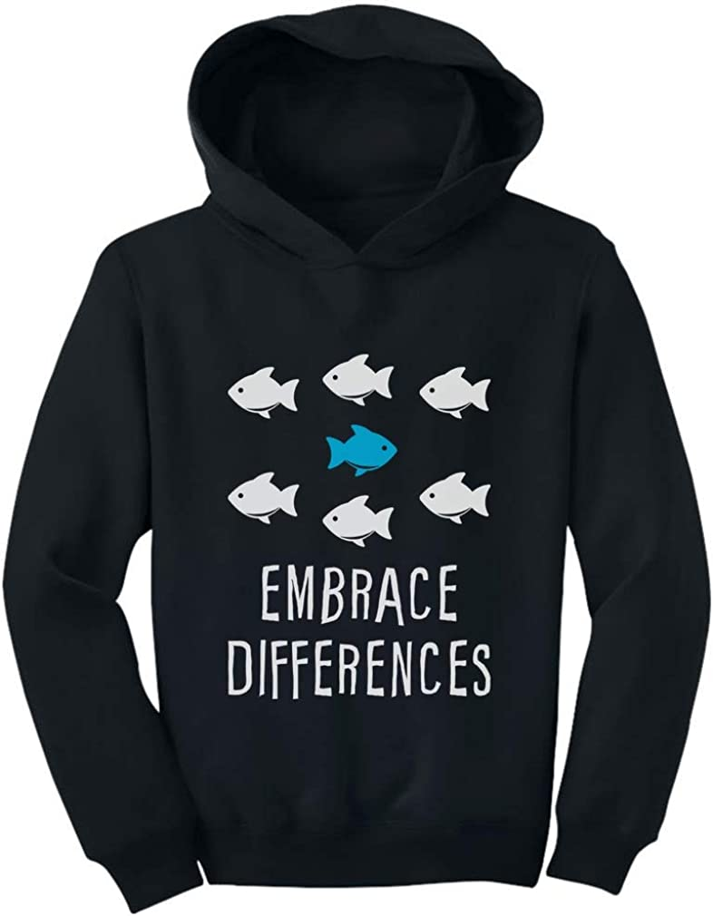Tstars Embrace Differnces Autism Awareness Toddler Hoodie