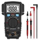 Bside True RMS Voltmeter Auto-Ranging Digital Multimeter Pocket DMM Amp Volt Ohm Diode Continuity V-Alert Tester with 2 Probe Holder