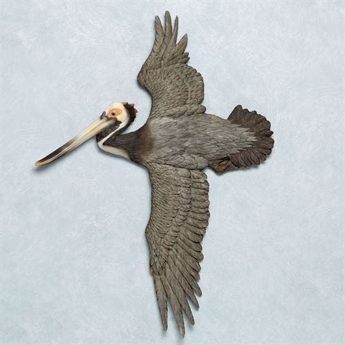 Touch of Class Soaring Pelican Wall Art Sculpture Charcoal (Art Wall Coastal View)