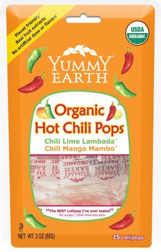 Yummyearth Loll Pop Hot Chili Stand, 3 oz