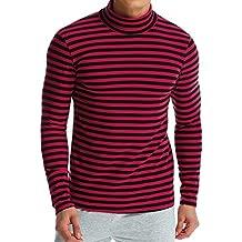 MODCHOK Men's Shirt Long Sleeve Cotton T-Shirt Lightweight Turtleneck Slim Fit Tops