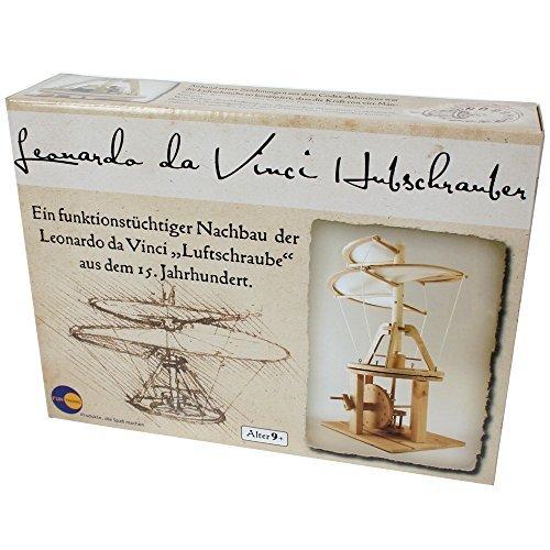 Holzbausatz Leonardo da Vinci Katapult Luftschraube Hubschrauber 25 cm, Modell:Hubschrauber